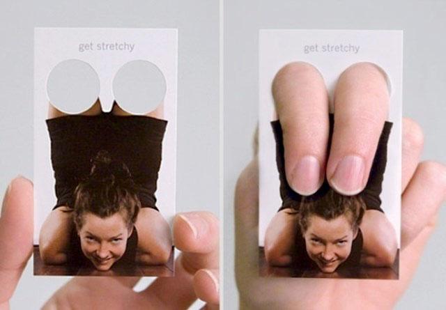 Cartão de visita inovador