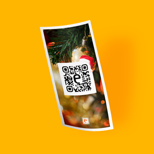 marketing impresso com qr code para ações de fim de ano, Natal e Reveillon