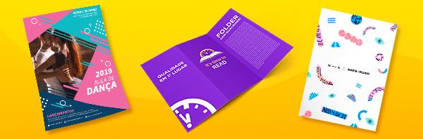 Folders, panfletos, flyers, folhetos e cartazes para ações de fim de ano