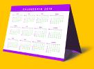 calendário de mesa gráfica online